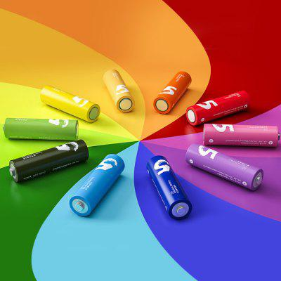 10 x Original Xiaomi Zi5 Rainbow AA Alkaline BatteryBatteries And Cases<br>10 x Original Xiaomi Zi5 Rainbow AA Alkaline Battery<br><br>Battery: AA<br>Battery Type: Alkaline<br>Brand: Xiaomi<br>Cadmium Free: Yes<br>Mercury Free: Yes<br>Package Contents: 10 x Original Xiaomi AA Alkaline Battery<br>Package size (L x W x H): 16 x 6 x 2.5 cm / 6.29 x 2.36 x 0.98 inches<br>Package weight: 0.3 kg<br>Product size (L x W x H): 15 x 5 x 1.5 cm / 5.90 x 1.97 x 0.59 inches<br>Product weight: 0.230 kg<br>Protected: No<br>Rechargeable: No<br>Suitable for: Industrial Equipment, Electric Tools, Flashlight, Multimeter, CD Players, Portable Games, Digital Camera, PDA, Microphone, MP3, MP4<br>Type: Battery<br>Voltage(V): 1.5V
