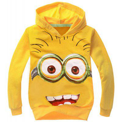 Cute Long Sleeve Hooded Cartoon Minions Pattern Boy's Sweatshirt