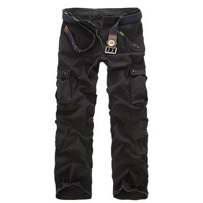 Multi Pockets Straight Leg Military Cargo Pants