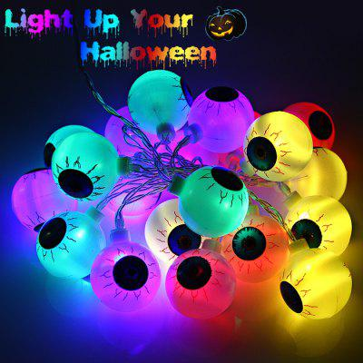 2M 20 Eyeball AA Battery LED String Light Halloween Decoration