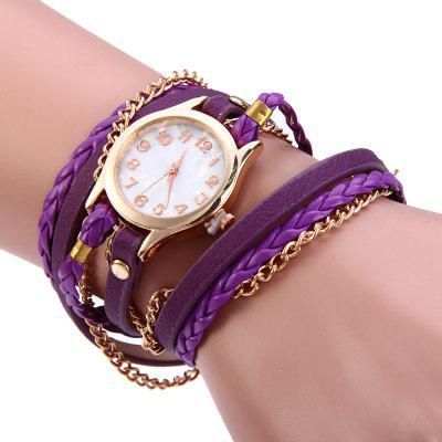 Women Antique Weave Bracelet Analog Wrist Watch