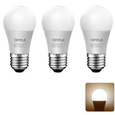 3 x OPPLE 6W E27 550LM 3000K Ampoule LED