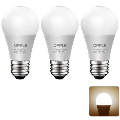 3 x OPPLE 12W E27 1100LM 3000K Ampoule LED