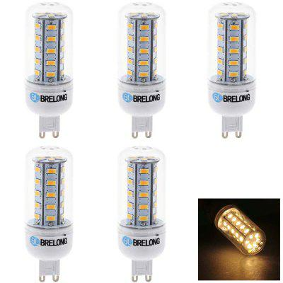 5 x BRELONG SMD 5730 7W 600Lm G9 LED Corn Bulb