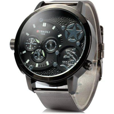 Jubaoli 1026 Steel Net Band Men Quartz Watch