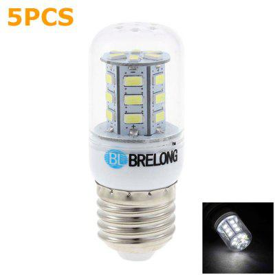 5 x BRELONG E27 3W SMD 5730 300Lm LED Corn Light