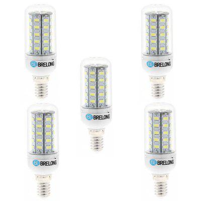 5 x BRELONG E14 7W SMD 5730 700Lm LED Corn Lamp