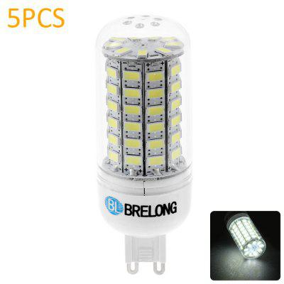 5PCS BRELONG G9 SMD 5730 12W 1200LM LED Corn Lamp