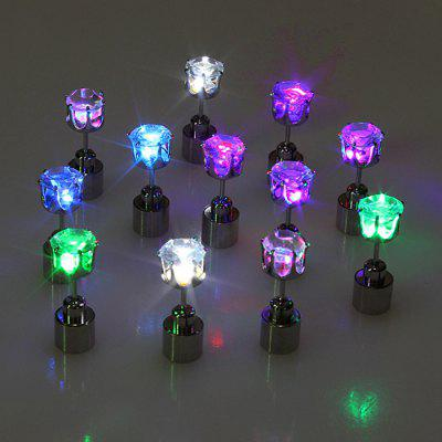 Bling Bling Acrylic LED Earring StudsLED Strips<br>Bling Bling Acrylic LED Earring Studs<br><br>Material: Acrylic<br>Optional Color: Blue,Colorful,Green,Purple,White<br>Package Contents: 1 x Pair of LED Earring<br>Package size (L x W x H): 8.00 x 6.00 x 3.00 cm / 3.15 x 2.36 x 1.18 inches<br>Package weight: 0.0200 kg<br>Product size (L x W x H): 2.00 x 0.70 x 0.70 cm / 0.79 x 0.28 x 0.28 inches<br>Product weight: 0.0040 kg