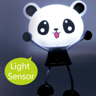 Sensor Cartoon Panda LED Night Light Wall Plug Lamp