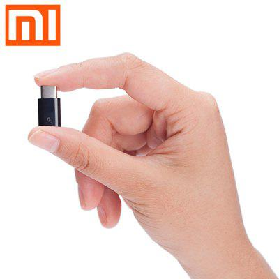 Original XiaoMi USB Type-C Male to Micro USB Female Connector - BLACK