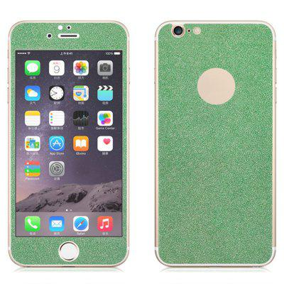 Angibabe Tempered Glass Front and Back Protector Film for iPhone 6 / 6S Plus Shimmering Powder Design 0.3mm Thickness fema front back 6d colorful laser tempered glass protector films for iphone 6s plus 6 plus irregular pattern