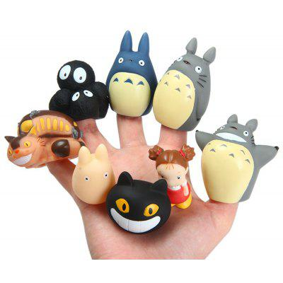 Anime My Neighbor Totoro Characteristic Figure Model Finger Toy 8Pcs / Set