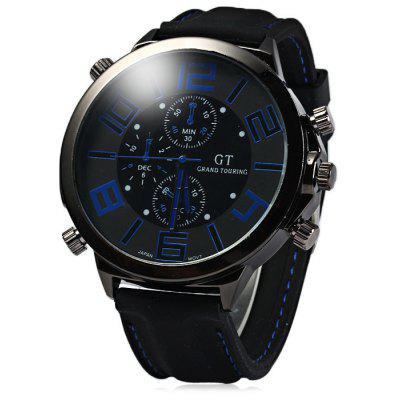 Buy GT Male Japan Quartz Watch with Rubber Band BLUE for $4.69 in GearBest store