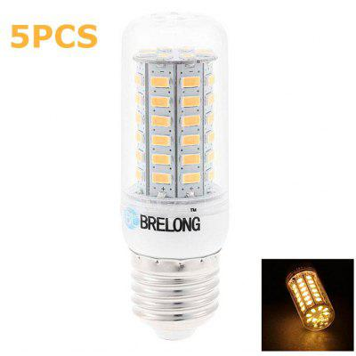 5pcs BRELONG 9W E27 SMD 5730 900Lm LED Corn Light