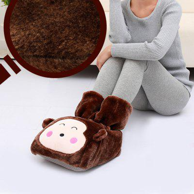 Monkey Style Plush Electronic Foot Warmer