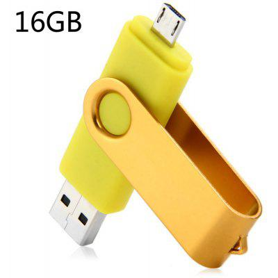 Deux en un 16GB OTG USB 2.0 Flash Drive
