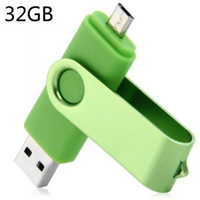 Pen Drive 2 em 1 32GB OTG USB 2.0 para Laptop/Smart Phone/PC/Mac/Notebook etc.
