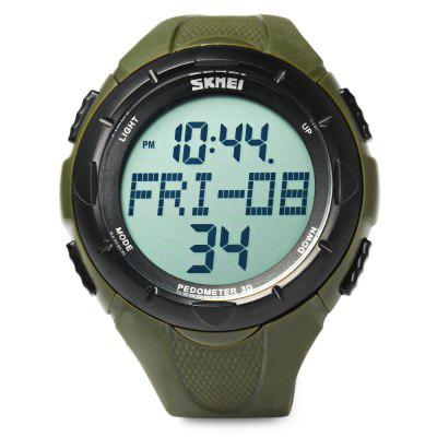 Skmei 1122 LED Sports Men Wrist WatchMens Watches<br>Skmei 1122 LED Sports Men Wrist Watch<br><br>Available Color: Black,Green<br>Band color: Black,Green<br>Band material: PU<br>Case color: Black,Green<br>Case material: PC<br>Clasp type: Pin buckle<br>Display type: Digital<br>Hour formats: 12/24 Hour<br>Movement type: Digital watch<br>Package Contents: 1 x Skmei 1122 Sports Men Watch<br>Package size (L x W x H): 26.00 x 6.10 x 2.40 cm / 10.24 x 2.4 x 0.94 inches<br>Package weight: 0.0600 kg<br>Product size (L x W x H): 25.00 x 5.10 x 1.40 cm / 9.84 x 2.01 x 0.55 inches<br>Product weight: 0.0550 kg<br>Shape of the dial: Round<br>Special features: Week, Stopwatch, Pedometer, Month, Luminous, Day, Alarm Clock, Date<br>Style elements: LED<br>The band width: 2 cm / 0.79 inches<br>The dial diameter: 5.1 cm / 2.01 inches<br>The dial thickness: 1.4 cm / 0.55 inches<br>Watch style: Trends in outdoor sports<br>Watches categories: Male table<br>Water resistance : 50 meters<br>Wearable length: 17 - 22.5 cm / 6.69 - 8.86 inches