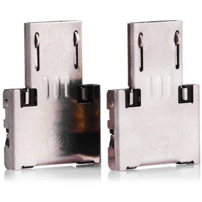 USB to Micro USB OTG Adapter 2 Pcs
