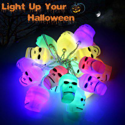 2M 20 Skull AA Battery LED String Light Halloween Decoration