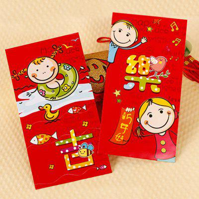 Shenglu CN885 Chinese New Year Children Congratulation Red Envelope 17 x 9 x 0.2cm 6 / Set