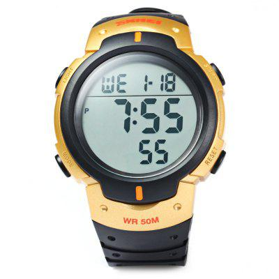 Skmei 1068 LED Digital Military Watch Water Resistant Alarm Day Date Stopwatch for SportsSports Watches<br>Skmei 1068 LED Digital Military Watch Water Resistant Alarm Day Date Stopwatch for Sports<br><br>Available Color: Black<br>Band material: PU<br>Brand: Skmei<br>Case material: PC<br>Clasp type: Pin buckle<br>Display type: Digital<br>Movement type: Digital watch<br>Package Contents: 1 x Skmei 1068 Watch<br>Package size (L x W x H): 22 x 6.2 x 2.5 cm / 8.65 x 2.44 x 0.98 inches<br>Package weight: 0.100 kg<br>People: Unisex table<br>Product size (L x W x H): 21 x 5.1 x 1.5 cm / 8.25 x 2.00 x 0.59 inches<br>Product weight: 0.050 kg<br>Shape of the dial: Round<br>Special features: Stopwatch, Date, Day, EL Back-light, Alarm Clock<br>The dial diameter: 5.1 cm / 2.00 inches<br>The dial thickness: 1.5 cm / 0.59 inches<br>Watch style: Outdoor Sports, LED, Military, Fashion&amp;Casual<br>Water resistance: 50 meters