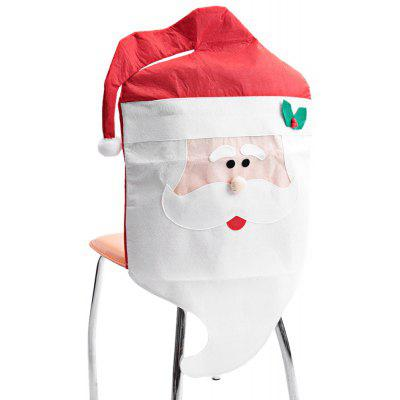 Mr Santa Claus Chair Back Cover for Christmas