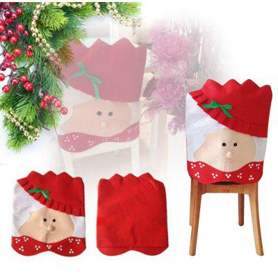 Mrs Santa Claus Chair Back Cover for Christmas