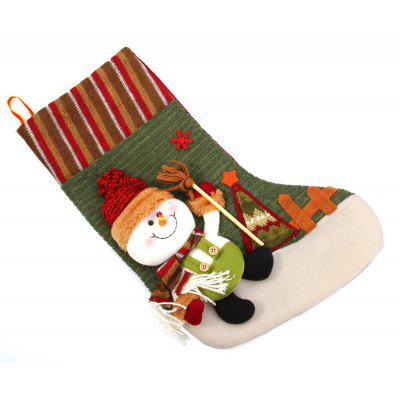 Hanging Stockings Snowman Pattern for Christmas