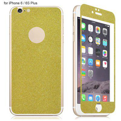 Angibabe Tempered Glass Front and Back Protector Film for iPhone 6 / 6S Plus Shimmering Powder Design 0.3mm Thickness
