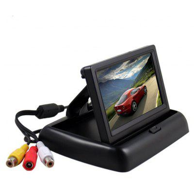 Foldable 4.3 Inch Car Reversing Digital LCD Display
