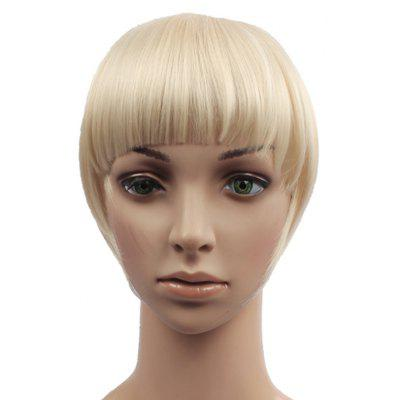 Assorted Color Trendy Straight Capless Clip In Synthetic Full Bang With Sideburns For Women