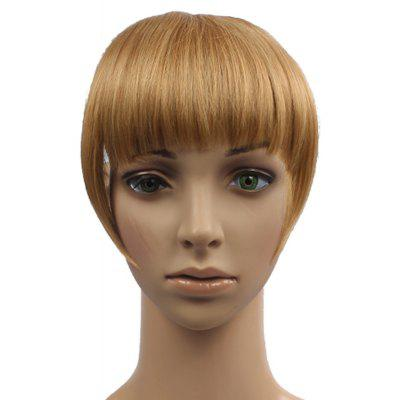 Vogue Brown Blonde Mixed Capless Straight Synthetic Full Bang With Sideburns For Women