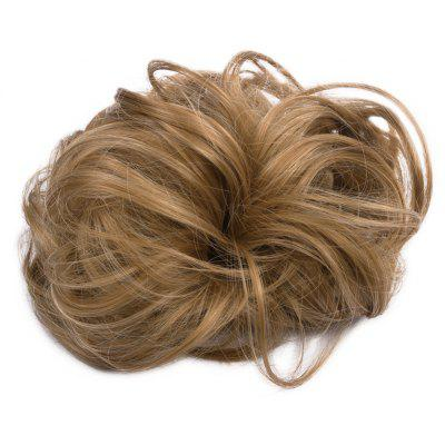 Fashion Brown Mixed Capless Fluffy Curly Heat Resistant Synthetic Hair Bun