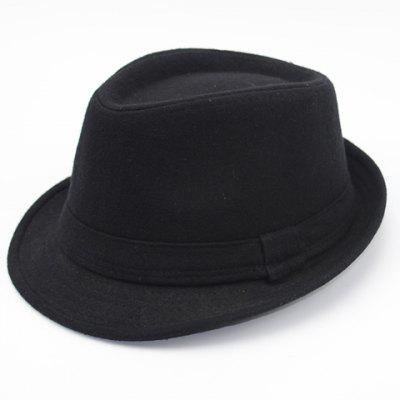 Stylish Simple Solid Color Felt Fedora For Men