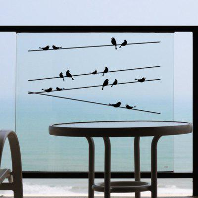 Telegraph Poles Birds Removable Wall Art Decals