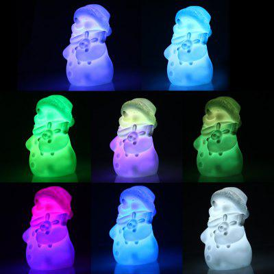 LED Snowman Design Night Light with Warm White Light