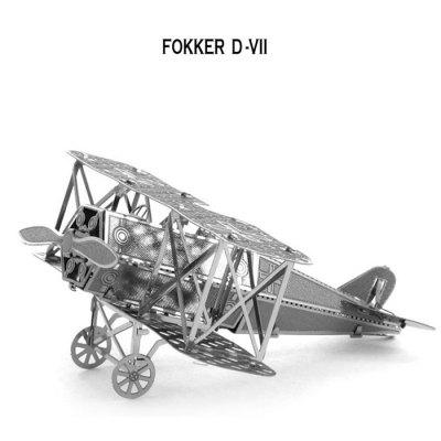 Biplane 3D Jigsaw Laser Cutting Model Puzzle Educational DIY Toy for Children