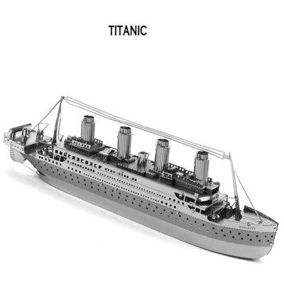 Ship 3D Jigsaw Laser Cutting Model Puzzle Educational DIY Toy for Children