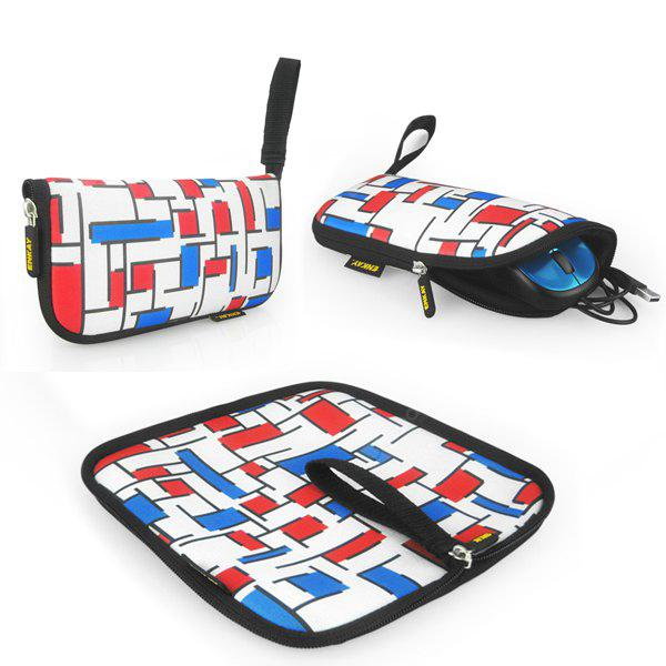 ENK-2003R1 2 in 1 Lattice Pattern Mouse Pad AS THE PICTURE