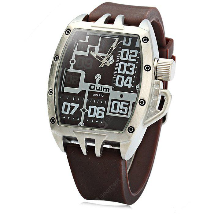 Oulm 3286 Sports Quartz Watch com Rubber Band para Homens