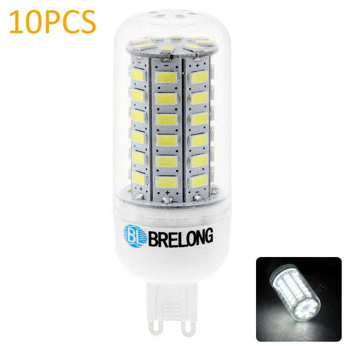 10pcs BRELONG G9 9W SMD 5730 900Lm LED Corn Light
