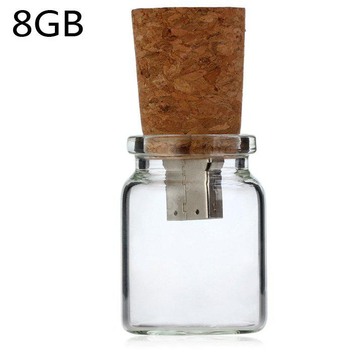 8GB USB 2.0 Flash Memory Drive Drift Bottle Type