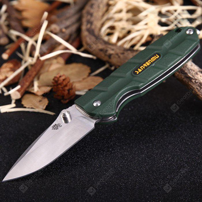 Sanrenmu 7092 LUX-PP Liner Lock Folding Knife ARMY GREEN