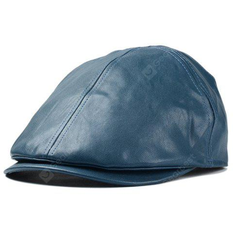 Stylish Solid Color PU Cabbie Hat For Men