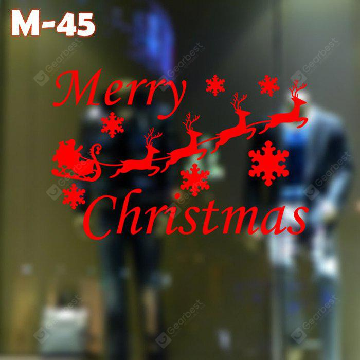 M-45 Small Deer and Snowflake Style Wall Stickers