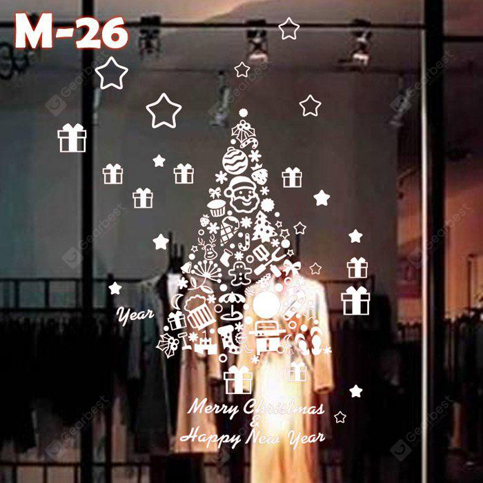 M-26 Christmas Tree Style Wall Stickers
