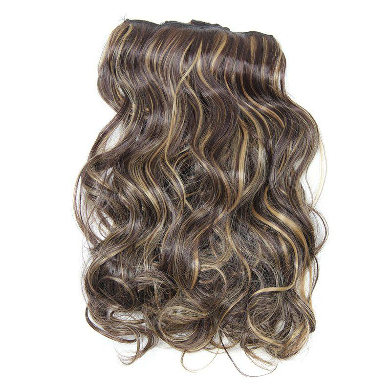 Assorted Color Long Clip-In Synthetic Charming Fluffy Curly Hair Extension Suit For Women