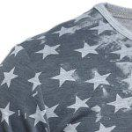 Distressed American Flag Printed T-Shirt - GRAY